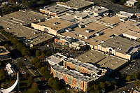 Aerial view of Charlotte's SouthPark mall. The mall, which opened in 1970 with about a million square feet of space, was been expanded in recent years into one of the largest shopping malls in the region.