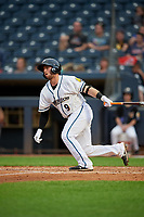 Akron RubberDucks Logan Ice (9) at bat during an Eastern League game against the Reading Fightin Phils on June 4, 2019 at Canal Park in Akron, Ohio.  Akron defeated Reading 8-5.  (Mike Janes/Four Seam Images)