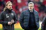 Hearts v St Johnstone…26.01.19…   Tynecastle    SPFL<br />Craig Levein and assistant Austin MacPhee<br />Picture by Graeme Hart. <br />Copyright Perthshire Picture Agency<br />Tel: 01738 623350  Mobile: 07990 594431
