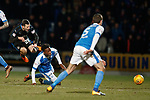 27.02.18 St Johnstone v Rangers:<br /> Jamie Murphy injured in tackle by Matty Wilcock