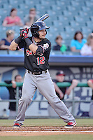 Albuquerque Isotopes second baseman Jose Rivera (12) at bat against the New Orleans Zephyrs in a game at Zephyr Field on May 28, 2015 in Metairie, Louisiana. (Derick E. Hingle/Four Seam Images)
