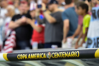 Houston, TX - Tuesday June 21, 2016: Signage prior to a Copa America Centenario semifinal match between United States (USA) and Argentina (ARG) at NRG Stadium.