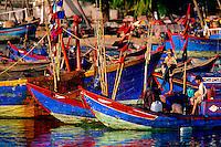 Fishing boats Vung Tau Harbor Vietnam.