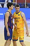 League ACB-ENDESA 2020/2021 - Game: 13.<br /> FC Barcelona Lassa vs Herbalife Gran Canaria: 91-63.<br /> Leandro Bolmaro vs Tomas Dimsa.