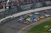 Monster Energy NASCAR Cup Series<br /> Daytona 500<br /> Daytona International Speedway, Daytona Beach, FL USA<br /> Sunday 18 February 2018<br /> Kurt Busch, Stewart-Haas Racing, Haas Automation/Monster Energy Ford Fusion and Denny Hamlin, Joe Gibbs Racing, FedEx Express Toyota Camry<br /> World Copyright: Russell LaBounty<br /> LAT Images