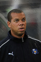 Los Angeles Sol assistant coach Hubert Busby, Jr. Sky Blue FC and the Los Angeles Sol played to a 0-0 tie during a Women's Professional Soccer match at Yurcak Field in Piscataway, NJ, on June 13, 2009.