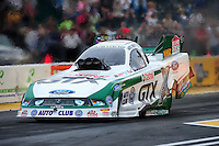 Aug. 5, 2011; Kent, WA, USA; NHRA funny car driver Mike Neff during qualifying for the Northwest Nationals at Pacific Raceways. Mandatory Credit: Mark J. Rebilas-