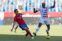 CARSON, CA - FEBRUARY 1: Gyasi Zardes #9 of the United States during a game between Costa Rica and USMNT at Dignity Health Sports Park on February 1, 2020 in Carson, California during a game between Costa Rica and USMNT at Dignity Health Sports Park on February 1, 2020 in Carson, California.