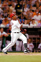 3 September 2005: Jose Guillen, outfielder for the Washington Nationals, at bat during a game against the Philadelphia Phillies. The Nationals defeated the Phillies 5-4 at RFK Stadium in Washington, DC. <br />