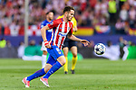 Saul Niguez Esclapez of Atletico de Madrid in action during their 2016-17 UEFA Champions League Quarter-Finals 1st leg match between Atletico de Madrid and Leicester City at the Estadio Vicente Calderon on 12 April 2017 in Madrid, Spain. Photo by Diego Gonzalez Souto / Power Sport Images