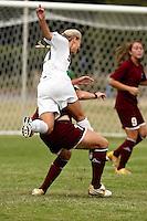 SAN ANTONIO, TX - SEPTEMBER 18, 2008: The West Texas A&M University Lady Buffaloes vs. the St. Mary's University Rattlers Women's Soccer at the St. Mary's Soccer Field. (Photo by Jeff Huehn)