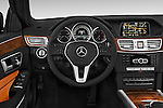 Car pictures of steering wheel view of a 2015 Mercedes Benz E Class Elegance 4 Door Sedan