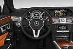 Car pictures of steering wheel view of a 2015 Mercedes Benz E Class Elegance 4 Door Sedan