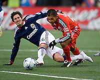 22 April 2009: Chivas USA midfielder Sacha Kljestan #16 and Toronto FC midfielder Amado Guevara #20 in action at BMO Field in a MLS game between Chivas USA and Toronto FC.Toronto FC won 1-0. .