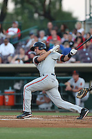 Jeff Arnold (21) of the San Jose Giants bats during a game against the Inland Empire 66ers at San Manuel Stadium on May 30, 2015 in San Bernardino, California. Inland Empire defeated San Jose, 6-4. (Larry Goren/Four Seam Images)