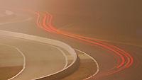 Light streaks, time-exposure, Rolex 24 at Daytona, at Daytona INternational Speedway, Daytona Beach, FL (Photo by Brian Cleary/www.bcpix.com)