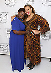 Danielle K. Thomas and Carmen Ruby Floyd backstage at the 'Avenue Q' 15th Anniversary Reunion Concert at Feinstein's/54 Below on July 30, 2018 in New York City.