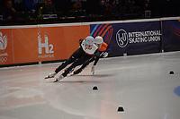 SPEEDSKATING: DORDRECHT: 05-03-2021, ISU World Short Track Speedskating Championships, Heats 1000m Ladies, Natalia Maliszewska (POL), Selma Poutsma (NED), ©photo Martin de Jong