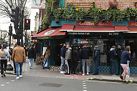 A busy scene as people purchase takeaway food in Camden Town as the COVID-19 lockdown restrictions start to ease across the UK on 2nd April 2021