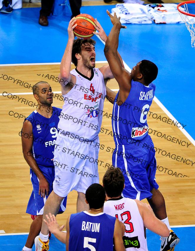 Spanish national basketball team player Pau Gasol during final Eurobasket 2011 game between Spain and France in Kaunas, Lithuania, Sunday, September 18, 2011. (photo: Pedja Milosavljevic)