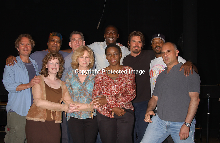 """The cast with John Savage, Mary Kay Place and Josh Brolin                               ..at a performance of """"The Exonerated """" at the 45 Bleecker..Theatre in New York City on August 8,2003. Photo by ..Robin Platzer, Twin Images.."""
