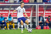 5th September 2021; Nashville, TN, USA;  United States forward Brenden Aaronson on the ball during a CONCACAF World Cup qualifying match between the United States and Canada on September 5, 2021 at Nissan Stadium in Nashville, TN.