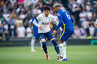 19th September 2021; Tottenham Hotspur Stadium, Tottenham, London; Son Heung-min challenges Thiago Silva during the Premier League match between Tottenham Hotspur and Chelsea at Tottenham Hotspur Stadium
