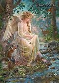 Liz,angel,wildlife,fox, LizDillon, paintings+++++,USHCLD0290,#I#, EVERYDAY