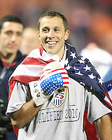 Steve Cherundola of the USA at the end of the game against Costa Rica during a 2010 World Cup qualifying match in the CONCACAF region at RFK Stadium on October 14 2009, in Washington D.C.The match ended in a 2-2 tie.
