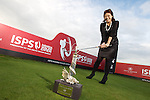 ISPS Handa Wales Open Announcement at the Celtic Manor Resort..Midori Miyazaki of new sponsor ISPS on the 1st tee of the Twenty Ten Course..28.11.11.©Steve Pope