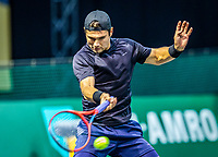 Rotterdam, The Netherlands, 28 Februari 2021, ABNAMRO World Tennis Tournament, Ahoy, Qualyfying match:  Marcus Giron (USA)  <br /> Photo: www.tennisimages.com/henkkoster