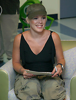 EXCLUSIVE<br /> Miami Beach, FL 5-21-2002<br /> Pop star Pink visits Joe DeMaggio<br /> Children's Hospital to visit with sick<br /> children before her South Florida concert.<br /> Photo by Adam Scull-PHOTOlink