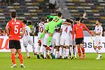 Players of Qatar celebrates after winning the AFC Asian Cup UAE 2019 Quarter Finals match between Qatar (QAT) and South Korea (KOR) at Zayed Sports City Stadium  on 25 January 2019 in Abu Dhabi, United Arab Emirates. Photo by Marcio Rodrigo Machado / Power Sport Images