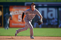 Mesa Solar Sox Brian Anderson (14), of the Miami Marlins organization, during a game against the Glendale Desert Dogs on October 20, 2016 at Camelback Ranch in Glendale, Arizona.  Glendale defeated Mesa 3-2.  (Mike Janes/Four Seam Images)