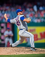 30 April 2017: New York Mets pitcher Josh Smoker on the mound in the 7th inning against the Washington Nationals at Nationals Park in Washington, DC. The Nationals defeated the Mets 23-5 in the third game of their weekend series. Mandatory Credit: Ed Wolfstein Photo *** RAW (NEF) Image File Available ***
