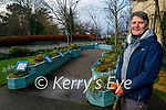 Paul Hanrahan standing in the Serenity Garden in Pearse Park on Friday