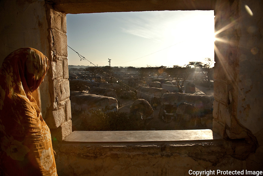 Dawn breaks on State House IDp camp in Hargeysa, Somaliland.