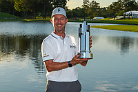 May 2nd 2021; The Woodlands, Texas, USA;  Mike Weir with the trophy for winning the 2021 Insperity Invitational at The Woodlands Country Club on May 2, 2021 in The Woodlands, Texas.