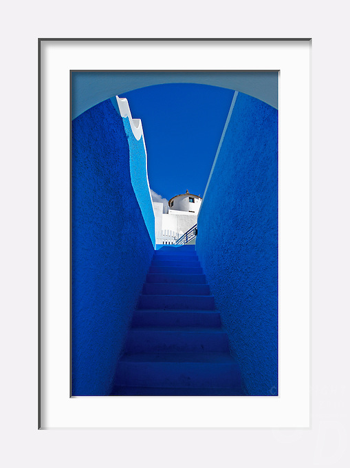 """""""Stairway to Heaven"""" - Image from the Book Journey through Color and Time, 2006, GREECE, THE COLORS  OF SANTORINI"""