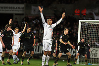 Pictured: Darren Pratley of Swansea City (C) protesting to referee.<br /> Re: Coca Cola Championship, Swansea City FC v Coventry City at the Liberty Stadium. Swansea, south Wales, Friday 26 December 2008.<br /> Picture by D Legakis Photography / Athena Picture Agency, Swansea 07815441513