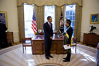 President Barack Obama greets Malaysian Ambassador to the U.S., Jamaludin Jarjis, during a credentialing ceremony for new ambassadors, in the Oval Office, Nov. 4, 2009. (Official White House Photo by Lawrence Jackson)<br /> <br /> This official White House photograph is being made available only for publication by news organizations and/or for personal use printing by the subject(s) of the photograph. The photograph may not be manipulated in any way and may not be used in commercial or political materials, advertisements, emails, products, promotions that in any way suggests approval or endorsement of the President, the First Family, or the White House.