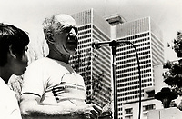 Marche pour la paix<br /> , Juilet 1987<br /> <br />  Warren Allmand in July 1987.