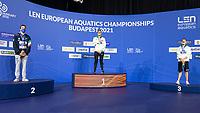 Gold Medal<br /> MILAKKristof HUN<br /> Silver Medal<br /> BURDISSOFederico ITA<br /> Bronze Medal<br /> KENDERESITamas<br /> 200m Butterfly Men<br /> Swimming<br /> Budapest  - Hungary  19/5/2021<br /> Duna Arena<br /> XXXV LEN European Aquatic Championships<br /> Photo Giorgio Scala / Deepbluemedia / Insidefoto