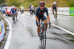 Jonathan Castroviejo (ESP) Team Ineos Grenadiers attacks followed by eventual winner Ruben Guerreiro (POR) EF Pro Cycling near the end of Stage 9 of the 103rd edition of the Giro d'Italia 2020 running 208km from San Salvo to Roccaraso (Aremogna), Sicily, Italy. 11th October 2020.  <br /> Picture: LaPresse/Fabio Ferrari   Cyclefile<br /> <br /> All photos usage must carry mandatory copyright credit (© Cyclefile   LaPresse/Fabio Ferrari)