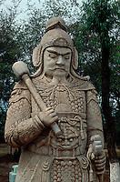 China, Peking (Beijing) Minggräber, Geisterallee, Militärmandarin; Unesco-Weltkulturerbe