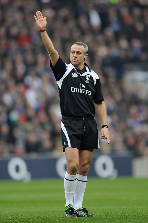 Referee John Lacey from Ireland during the RBS 6 Nations match between England and Italy at Twickenham Stadium on Saturday 14th February 2015 (Photo by Rob Munro)
