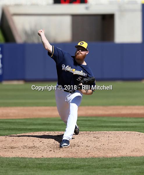 Brandon Woodruff - Milwaukee Brewers 2018 spring training (Bill Mitchell)