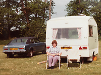 BNPS.co.uk (01202) 558833. <br /> Pic: AndrewLast/BNPS<br /> <br /> Pictured: Joy with the Capri on a family holiday in the 1970s. <br /> <br /> Pensioner Fred Last has bought back his beloved Ford Capri more than 20 years after he sold it.<br /> <br /> Fred, 92, bought the Mark One Capri from new in 1971 and it was his pride and joy for almost three decades.<br /> <br /> He regularly used the vehicle for family holidays and day trips before selling it in 1999, once his children had grown up.