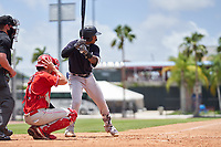 New York Yankees Roberto Chirinos (57) bats during an Extended Spring Training game against the Philadelphia Phillies on June 22, 2021 at the Carpenter Complex in Clearwater, Florida. (Mike Janes/Four Seam Images)