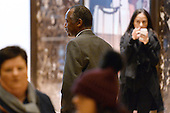 Former Republican presidential  candidate Ben Carson walks through the lobby of the Trump Tower in New York, New York, on November 22, 2016.  United States President-elect Donald Trump has mentioned he is considering Mr. Carson for a cabinet post as the head of the Department of Housing and Urban Development (HUD). <br /> Credit: Anthony Behar / Pool via CNP